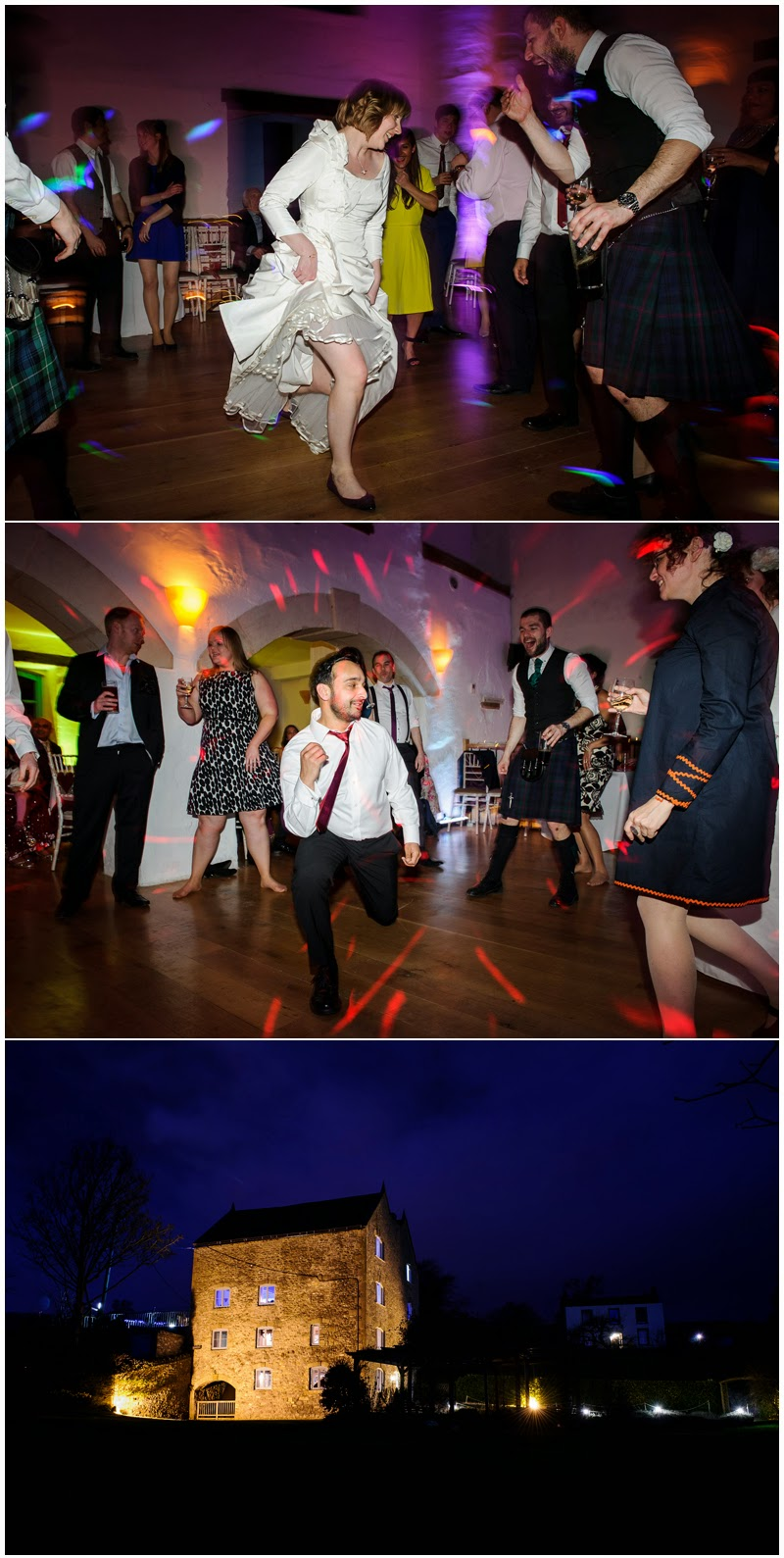 Dancing at Priston Mill wedding
