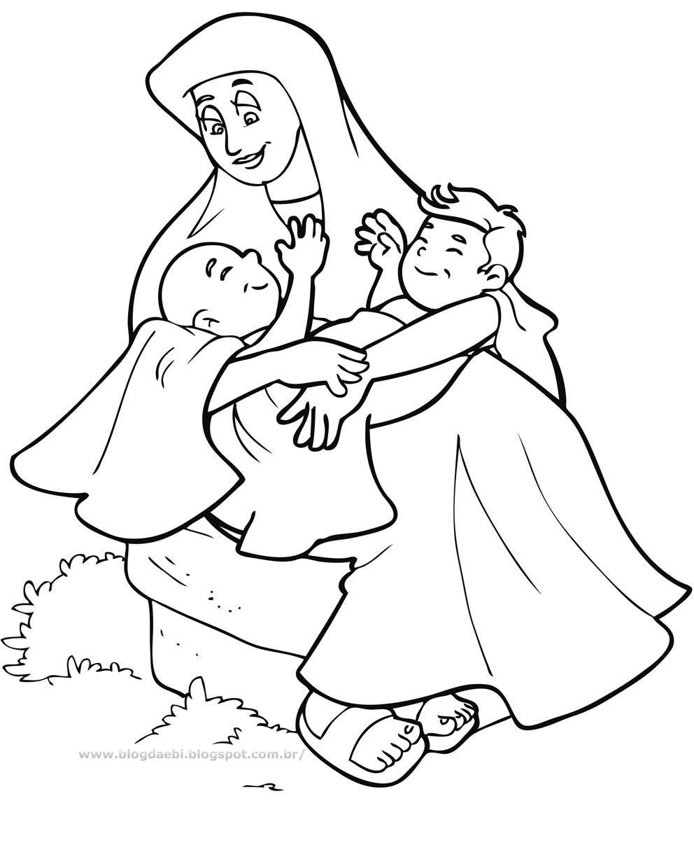 jacob meets esau coloring pages - photo#43