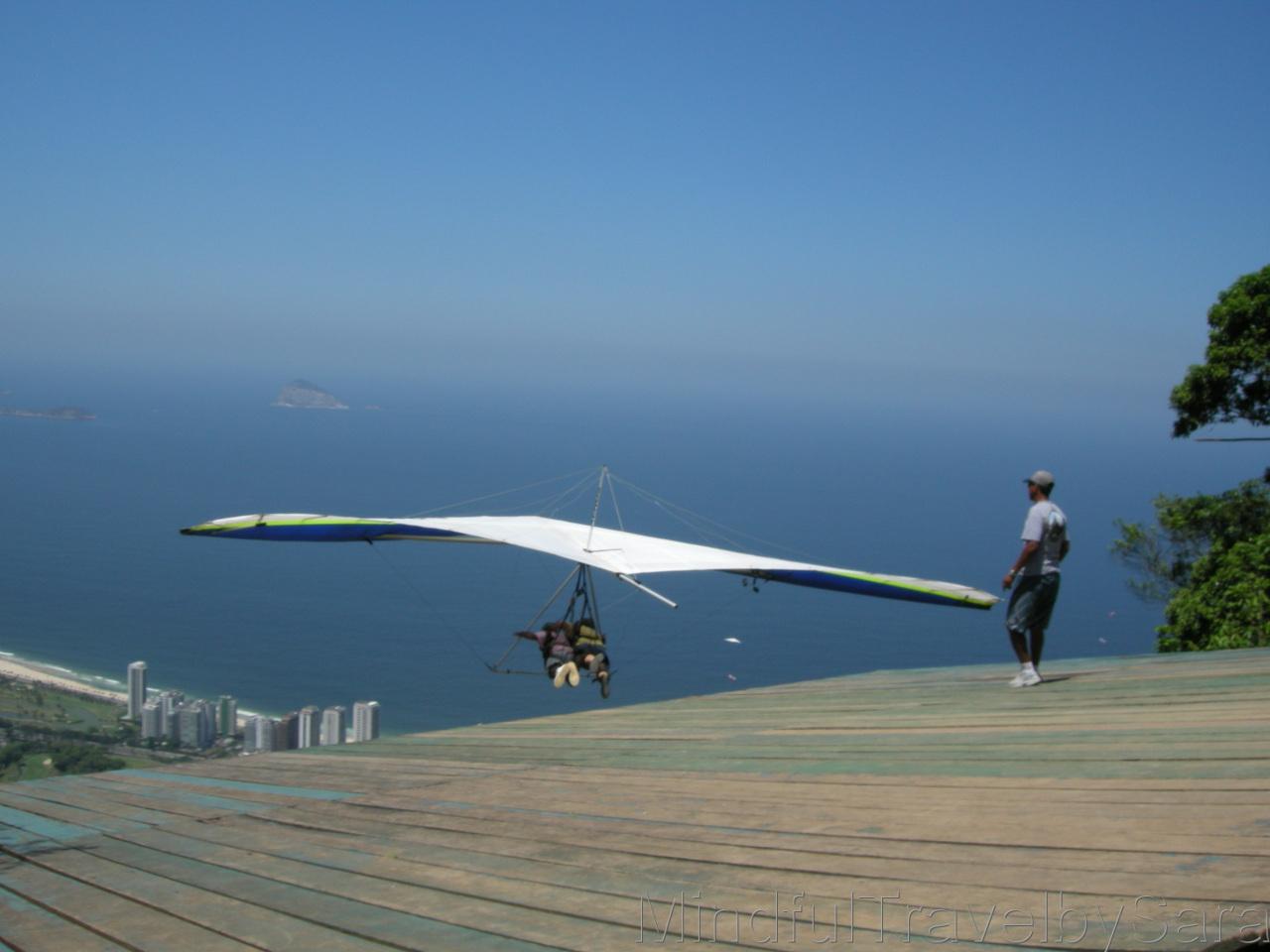 Views of Rio de Janeiro from a hang-glider