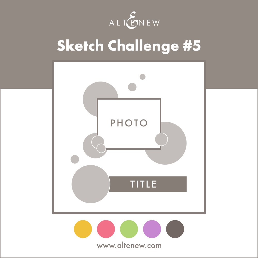 I won Altenew Sketch challenge#5