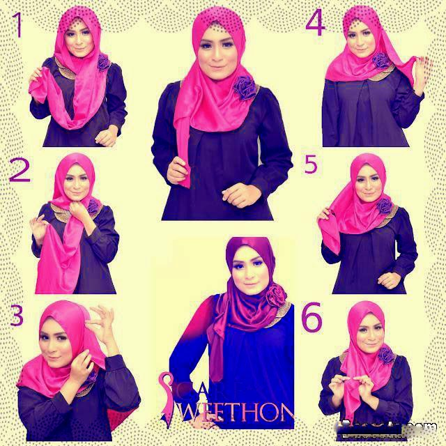 how to wear niqab step by step