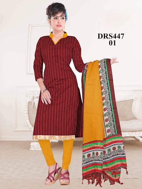 New Silk Plain Churidar Dress Material – Exporter