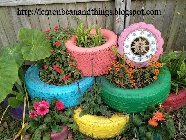 Reciclando llantas para el jard n for Ideas para decorar el jardin con llantas