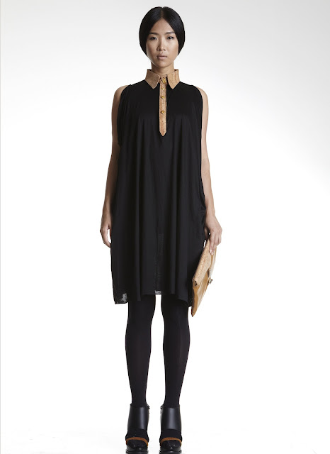 Black dress from the new max.tan SS13 collection