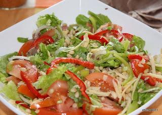 Салат с языком и кедровым орехом