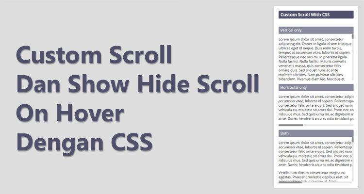 Custom Scroll Bar Dan Show Hide Scroll On Hover