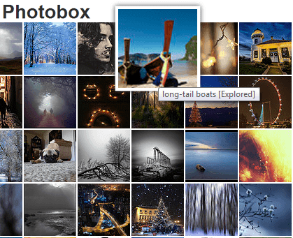 Photobox – CSS3 Image Gallery jQuery Plugin