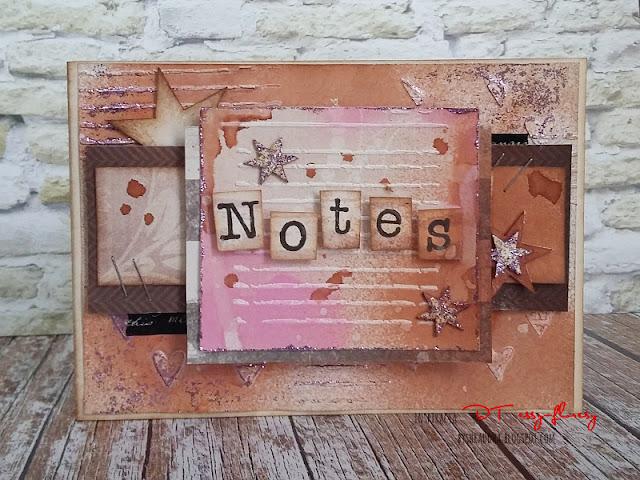 #285 Notes w romantycznym stylu