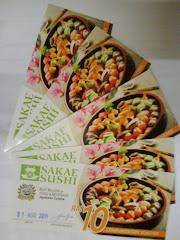 RM10 Sakae Sushi Voucher Contest Winners :