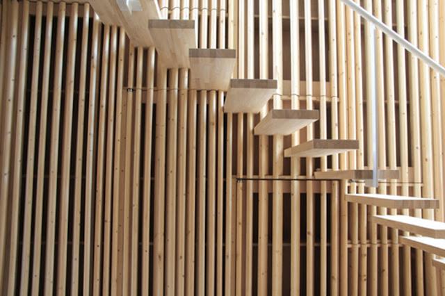Rehabilitaci n de una casa de madera en osaka espacios en for Listones madera exterior