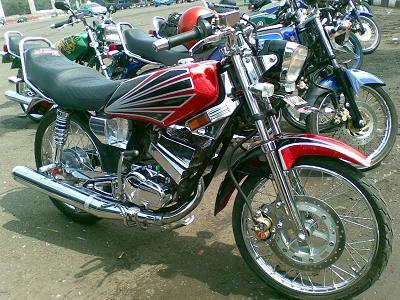 Modif Motor Rx King Warna Hitam