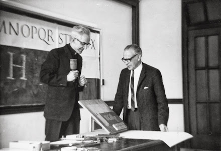 Father Catich and Lloyd Reynolds at Reed College