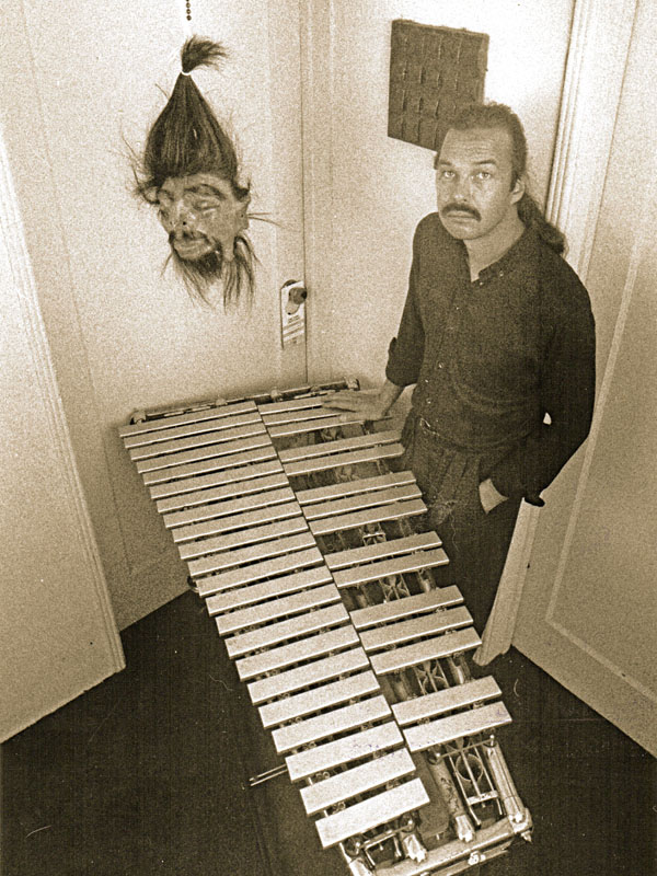 Arthur Jarvinen with vibraphone and head