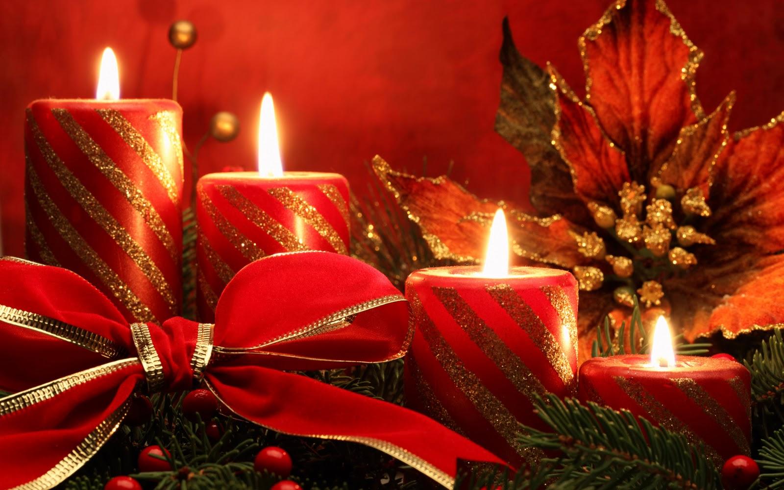 Christmas Candles Hd Desktop Wallpaper