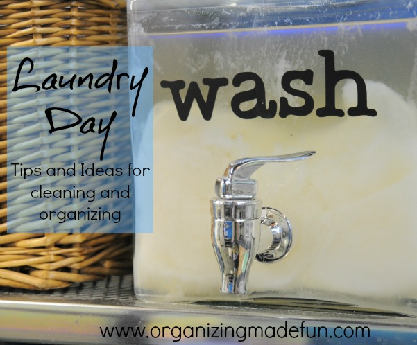 laundry cleaning organizing