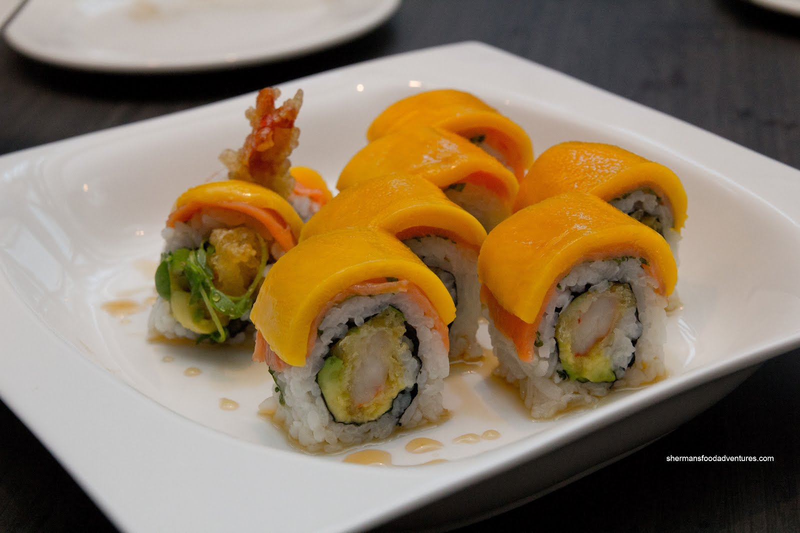 roll salmon and ready set roll mango mango roll which is a mango ...