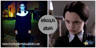 Disfraz de Miércoles Addams con ropa de casa para halloween