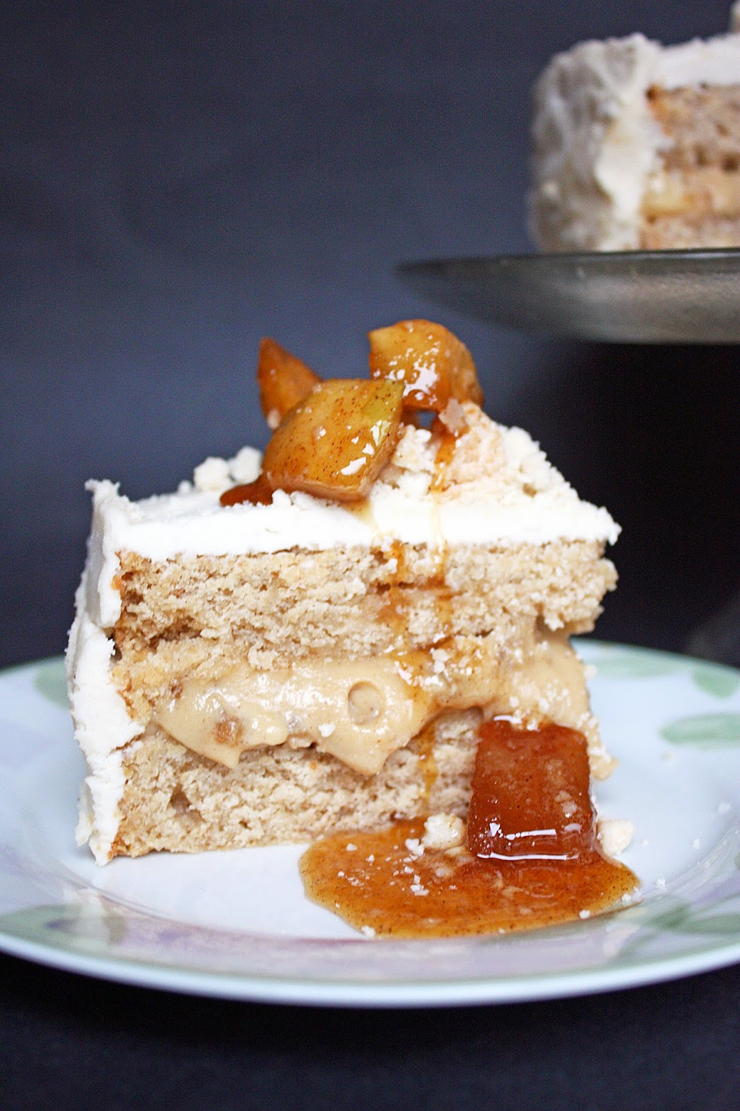 vegan apple pie cake