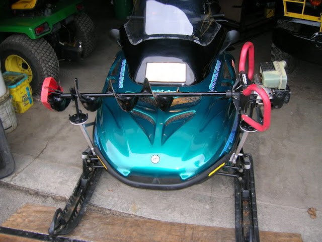 Snowmobile Ice Auger Holder
