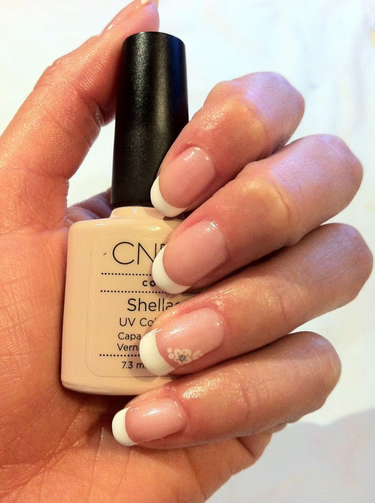 Brush up and Polish up!: CND Shellac Nail Art - French, French ...