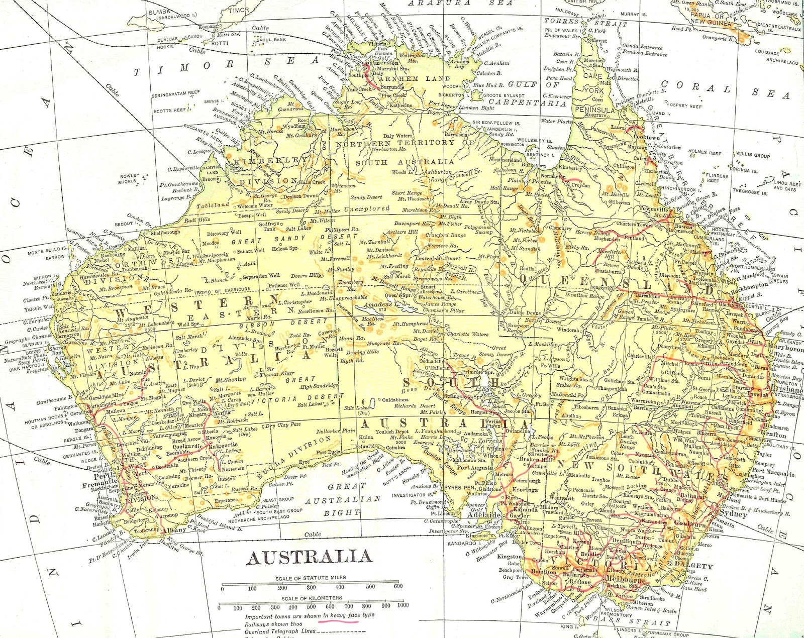Antique Images Free Map Clip Art Vintage Map of Australia Digital Background
