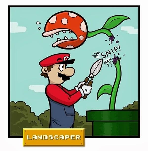 Mario Bros - jardinero