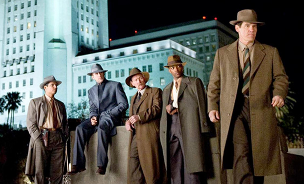 Gangster Squad stood outside Cohen's hotel