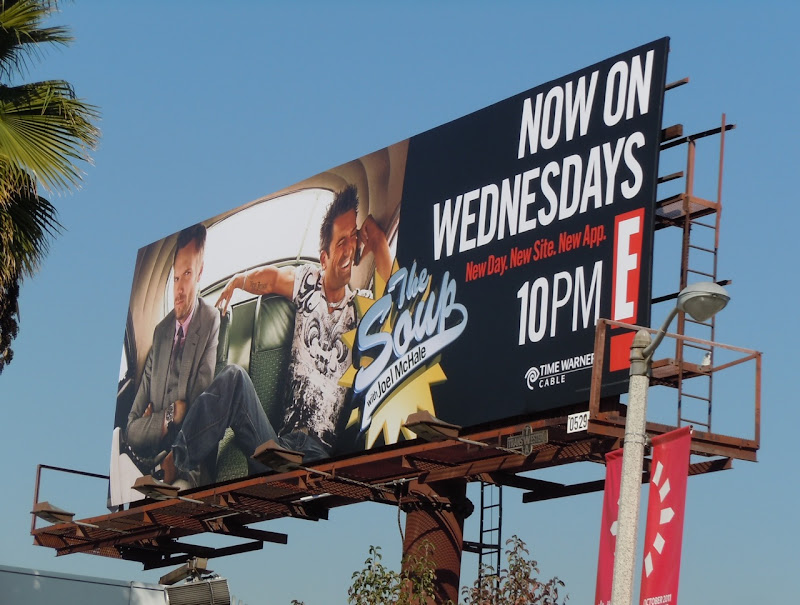 The Soup Now Wednesdays billboard