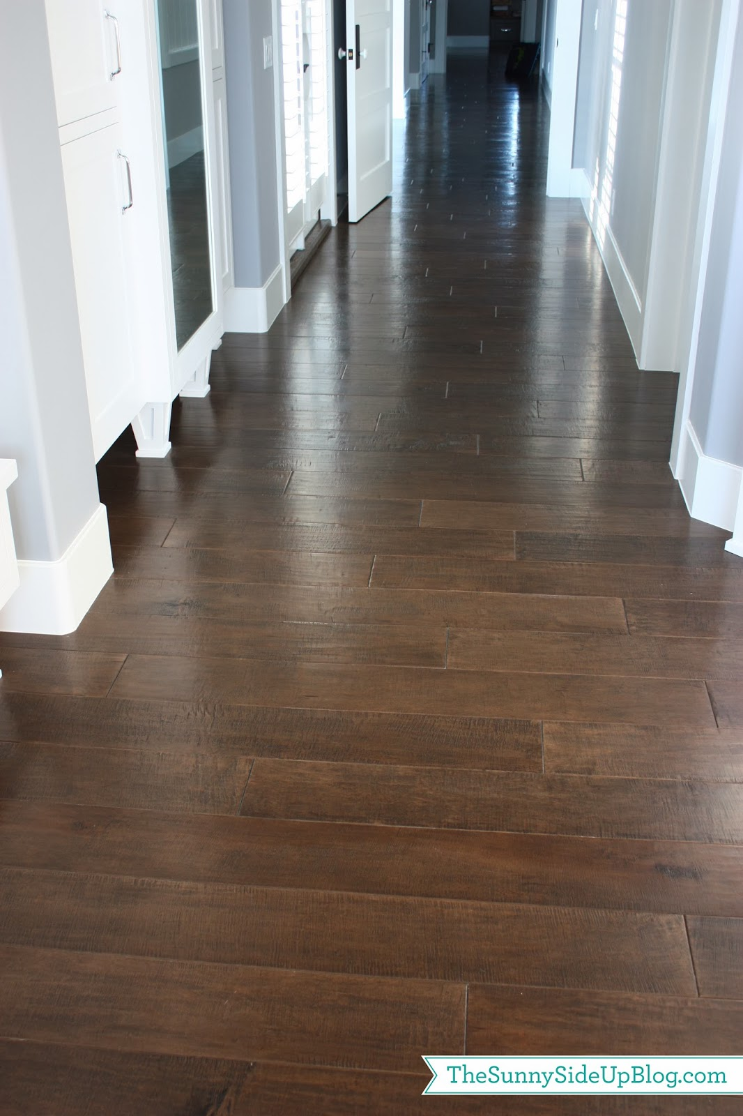 Dark Hardwood Floors ~ Dark wide plank wood floors home design elements