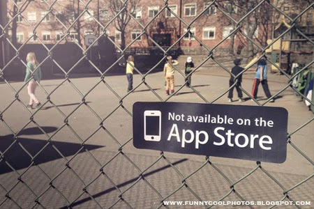 """""""Not Available on the App Store"""" Caption in Unexpected Places"""