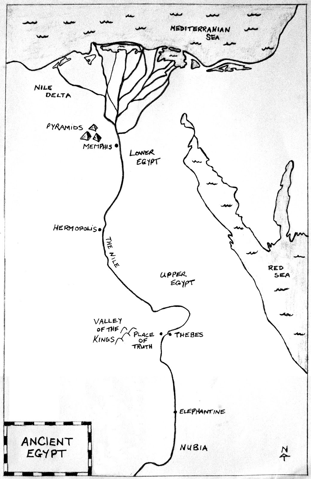 Egypt Map Quiz Worksheet Answers - Map of egypt quiz