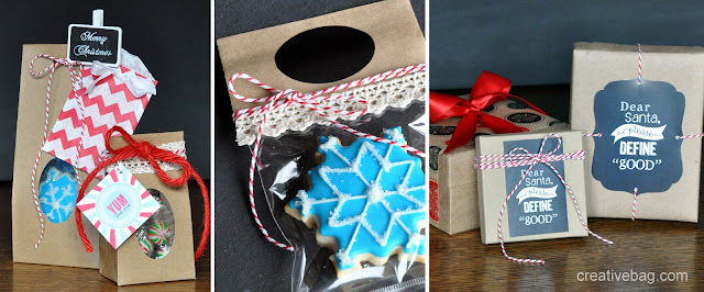 kraft paper gift wrapping inspiration | Lorrie Everitt for Creative Bag