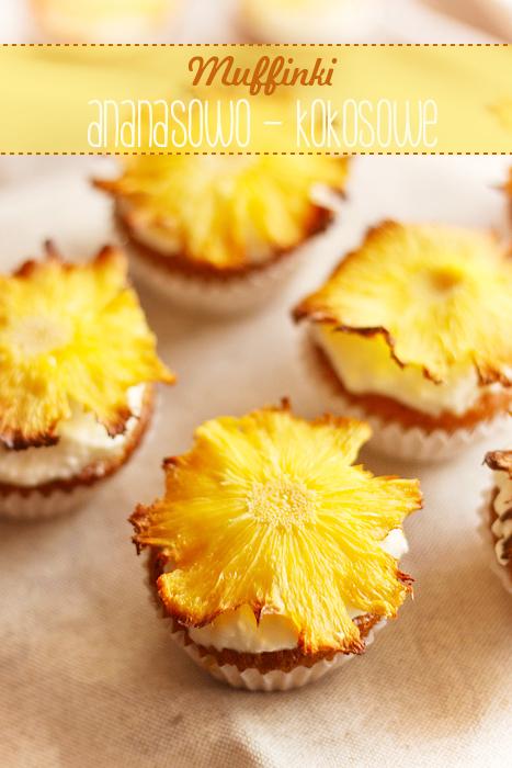 muffinki ananasowe z kokosem