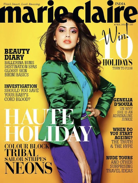 Genelia on Coverpage