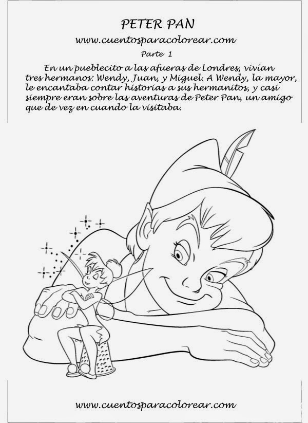 Blog del Primer Ciclo: Cuentos para colorear:Peter Pan