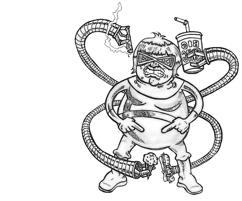 printable-doctor-octopus-versus_coloring-pages