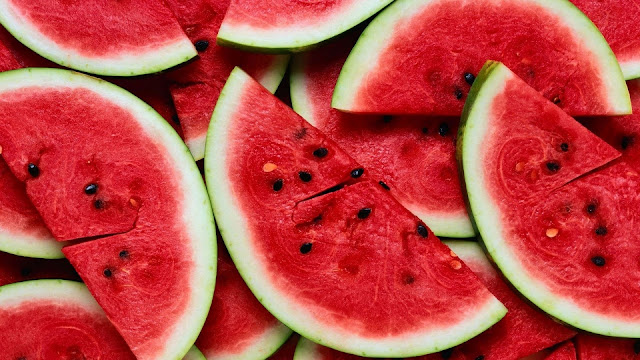 Watermelon Slices Close Up Stock Photo HD Wallpaper