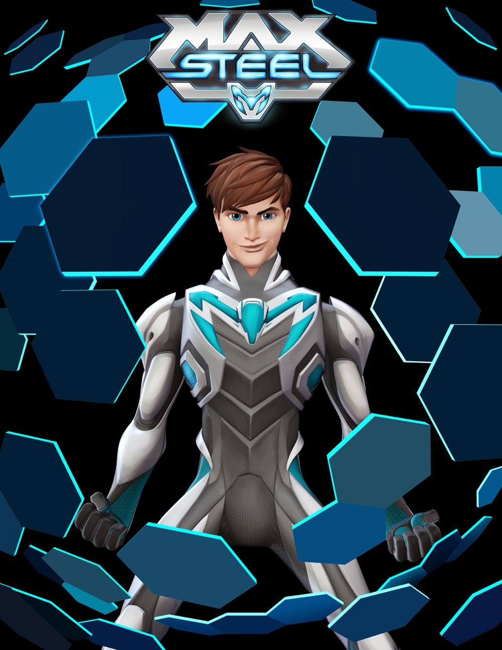 It is a graphic of Sizzling Max Steel Pictures