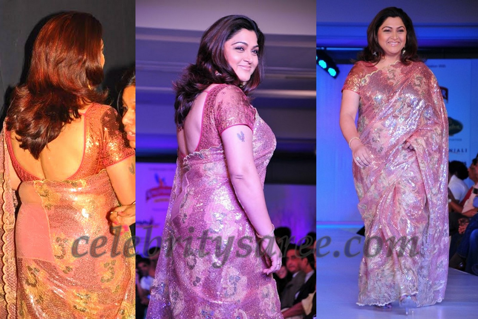 Kushboo Tamil Hot Awesome actress kushboo in transparent blouse - hot black blouse