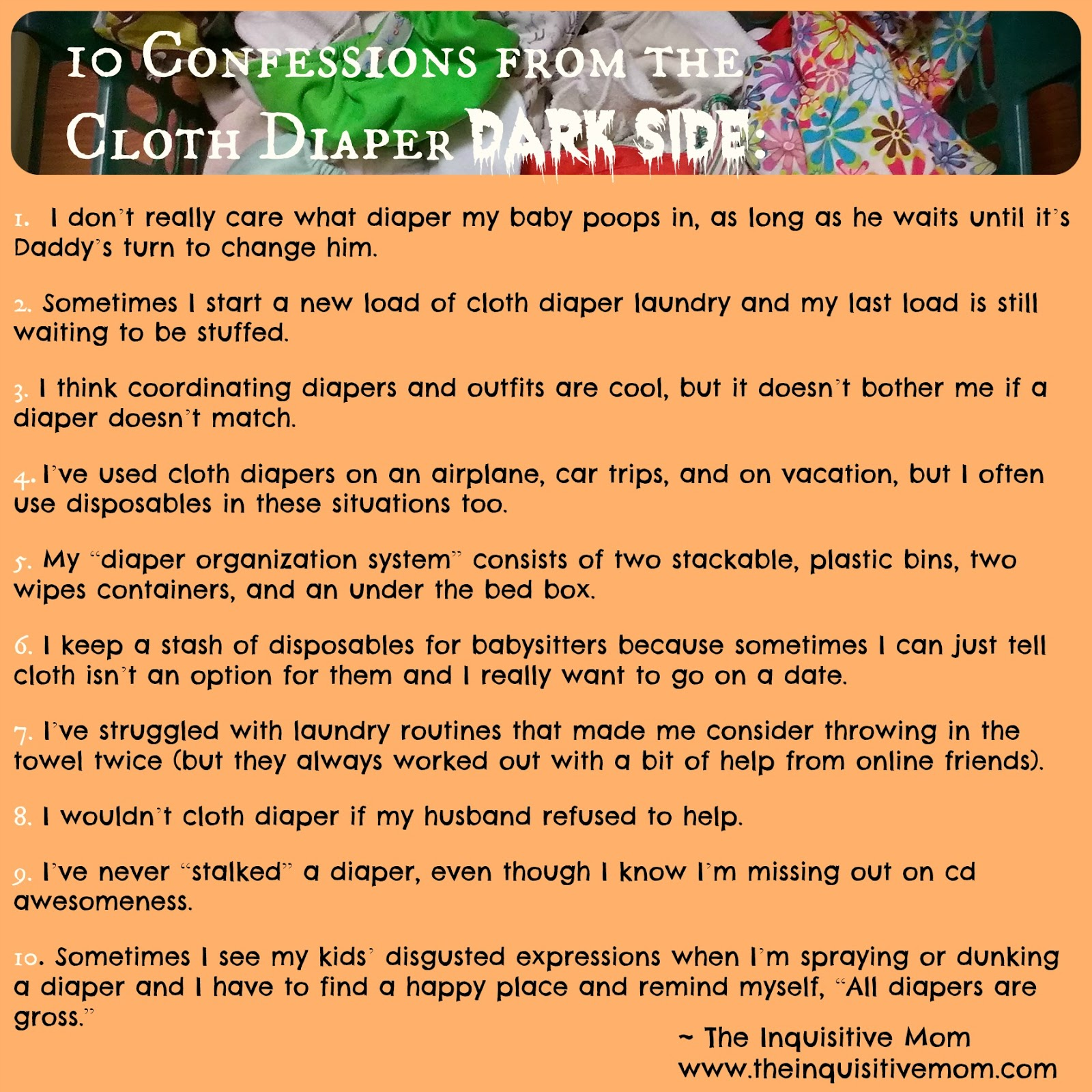 Diapering husband for bed - What S Your Cloth Diaper Confession