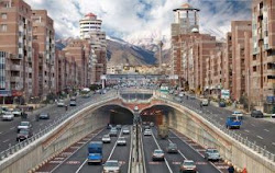 Tehran, Navab Tunnel, Alborz Mountains