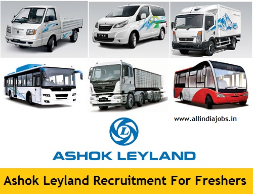 Ashok Leyland Recruitment 2018-2019 Job Openings For Freshers ...