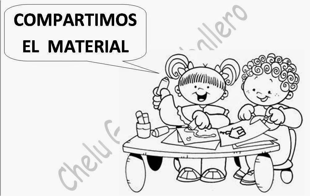 Reglas para el salon de clases sketch coloring page for 5 reglas del salon de clases