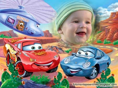 Colorido Fotomontaje de Cars. | Fotomontajes Online