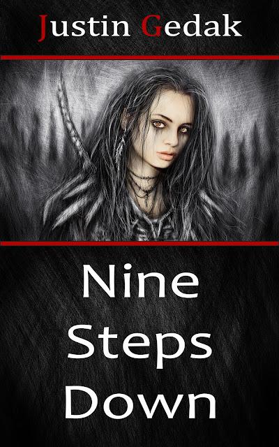 Fantasy thriller/horror novel cover