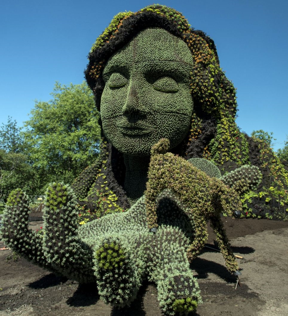 Amazing and incredible hedge sculptures art of beautiful women amazing arts - Piante decorative da giardino ...