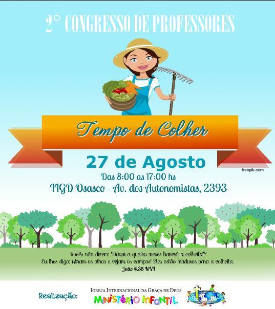 2º CONGRESSO TEMPO DE COLHER