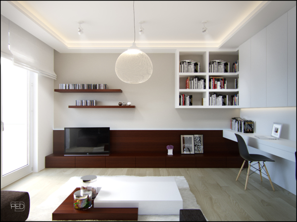 Small spaces a 40 square meter 430 square feet apartment visualization house architecture - Interior designsquare meter apartment ...