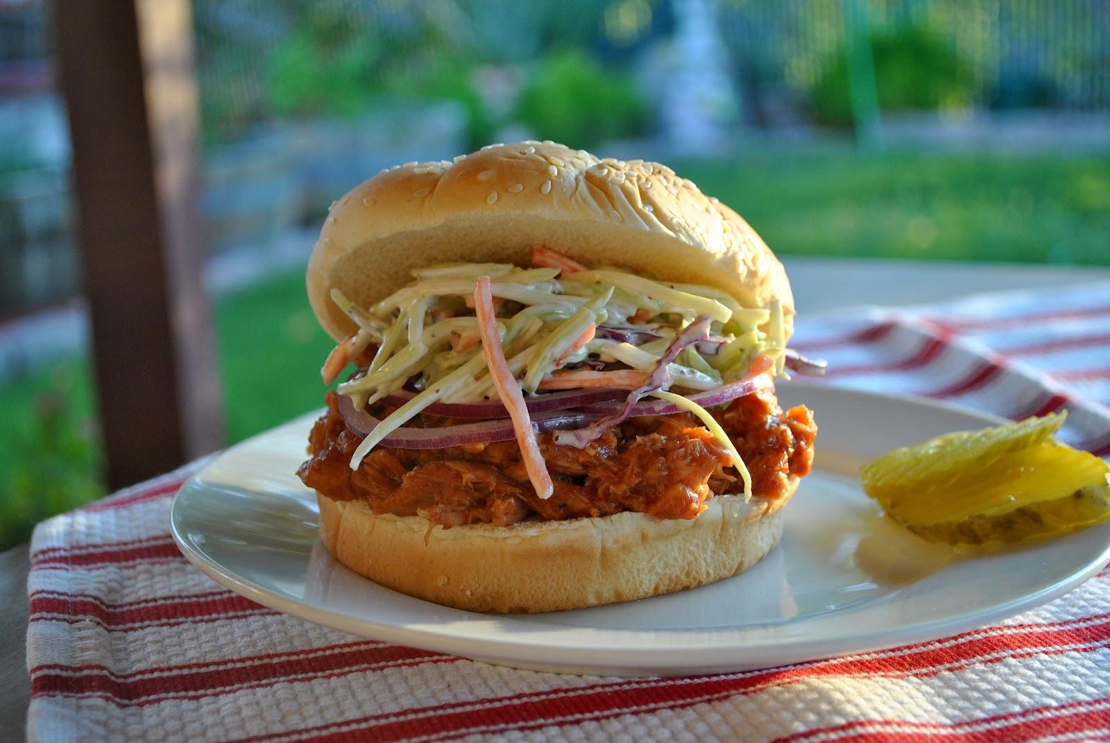 Barbecue Chicken Sandwiches With Cole Slaw Recipe — Dishmaps