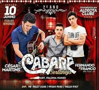 """Show """"Cabaré Sertanejo"""""""